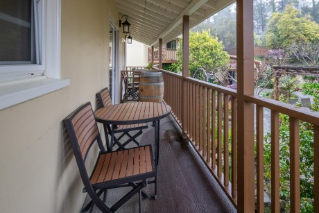 Welcome To Vendange Carmel Inn & Suites - Balcony with Garden Views